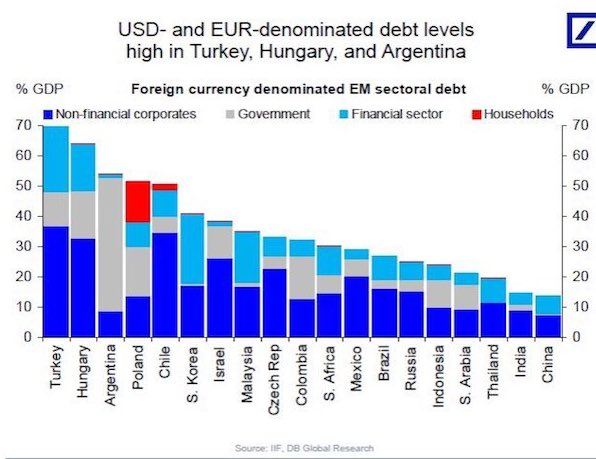 USD AND EURO DENOMINATED DEBT