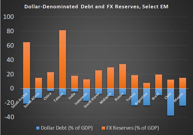 DOLLAR DEBT FX RESERVES